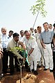 Jairam Ramesh watering a plant, at the Ceremonial Plantation at Jaunapur and its Dedication to the Nation, on the occasion of World Environment Day, in New Delhi on June 03, 2011.jpg