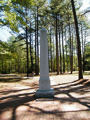 James Monroe Family Home Site - Obelisk at the James Monroe Family Home Site, October 2010