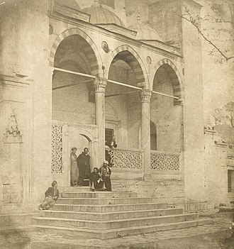 James Robertson (photographer) - Süleymaniye Mosque in Constantinople, photograph by Robertson, 1853
