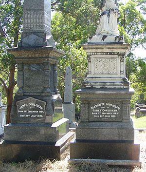 James Cowlishaw - The graves of James and Charlotte Cowlishaw