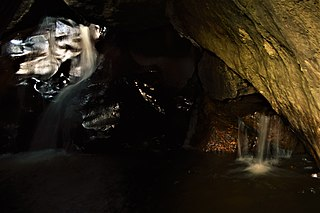 The Jams Waterfall along Cache Creek in Lake County, CA, US