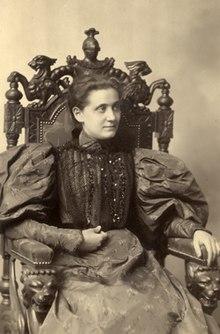 Jane Addams da giovane.