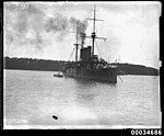 Japanese warship HIJMS IWATE in Sydney Harbour, January 1924 (7212643664).jpg