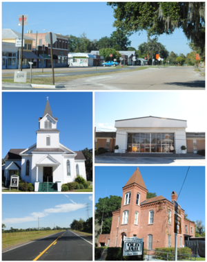 Jasper, Florida - Images top, left to right: Downtown Jasper, First United Methodist Church, Hamilton County Courthouse, U.S. Route 129, Old Hamilton County Jail