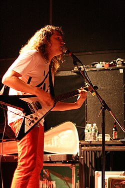 Jay Reatard performing at the Bowery Ballroom in 2008.