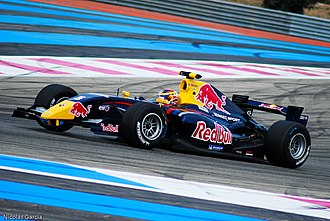 Jean-Éric Vergne - Vergne at the penultimate round of the 2011 Formula Renault 3.5 Series season, at Paul Ricard.