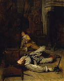 Jean-Louis-Ernest Meissionier - The End of the Game of Cards - Walters 37149.jpg