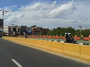 Pekanbaru - Flyover across the Jendral Sudirman street, built to cut down the traffic