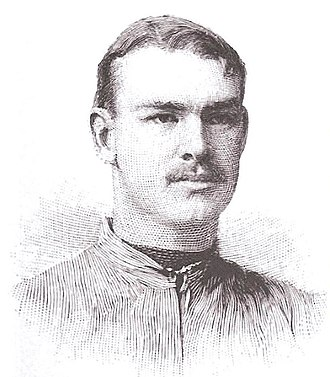 "Jesse Riggs - Portrait of Jesse Riggs from Walter Camp's 1894 book, ""American football"""