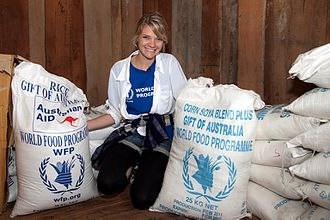 Jessica Watson - Watson in Laos as part of a program with the World Food Program (2011). Since her appointment in 2011, she acts as a WFP Youth Ambassador.