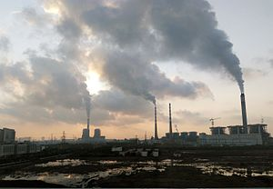 Thermal power station - Nantong Power Station, a coal-fired power station in Nantong, China.