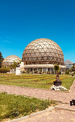 The main greenhouses of Jibou Botanical Garden