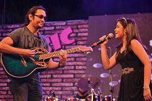 Jim Ankan Deka - Jim Ankan Deka and Antara Nandy at a concert in Bangalore (17 November 2012)