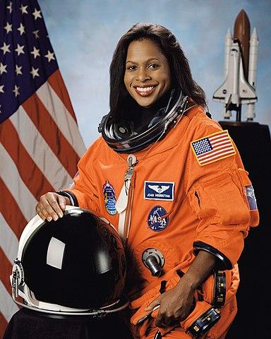 Astronaut Joan E. Higginbotham, mission specialist, NASA photo (24 September 2003)Source: Wikipedia (spaceflight.nasa.gov killed 25 Feb 2021) 384px-Joan_Higginbotham.jpg