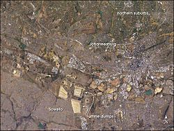 Johannesburg, including Soweto, from the International Space Station