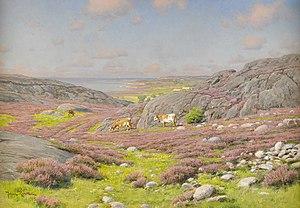Johan Krouthén - Scene from Halland north coast (1912)