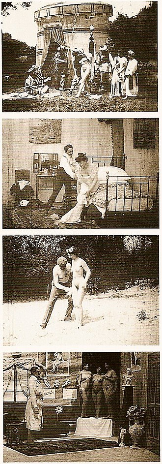 Images from early Austrian erotic films by Johann Schwarzer. Johann Schwarzer movies about 1906.jpg