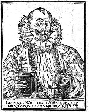 Johann Wolff - Joannes Wolfius de Tabernis Montanis, Johann Wolf of Bergzabern 1597