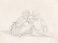 Johannot T. attr. - Pencil - Esquisse de 2 personnages - 13x9.9cm.jpg