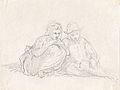Johannot T. attr. - Pencil - Esquisse de 2 personnages - 13x9.9cm.jpg