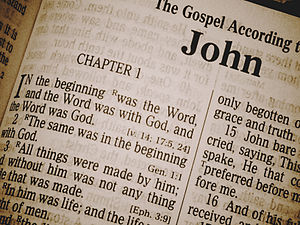 Chapters and verses of the Bible - The Gospel according to John - a text showing chapter and verse divisions (King James Version)