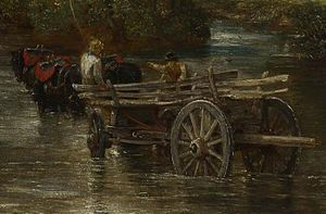 The Hay Wain - Image: John Constable carro de feno