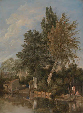 River Wensum - Boys bathing on the River Wensum by John Crome