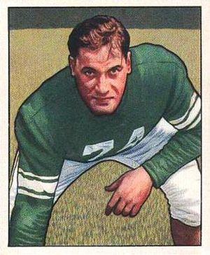 Jon Jenkins (American football) - Jenkins on a 1950 Bowman football card