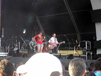 Jorge Drexler - Jorge Drexler performing with Tiê at the 2011 Rock in Rio Festival in Rio de Janeiro, Brazil.