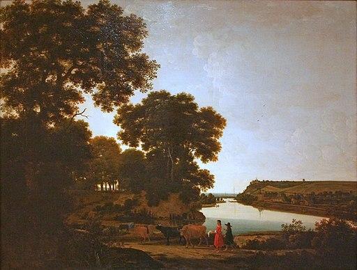 Joris van der Haagen - Gezicht over de Maas op Slavante bij Maastricht