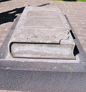 José Juan Tablada - Tablada's tomb in the Panteon Civil de Dolores cemetery, Mexico City