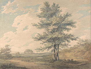 Landscape with Trees and Figures
