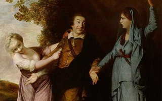 <i>David Garrick Between Tragedy and Comedy</i> 1761 painting by Joshua Reynolds