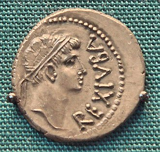 "Tacfarinas - Coin of Juba II, king of Mauretania (ruled 25 BC - AD 23). Reverse: Idealised bust of Juba, with legend REXIUBA (""King Juba"") Educated in Rome, he was a personal friend of the emperor Augustus and reliable Roman client-king"