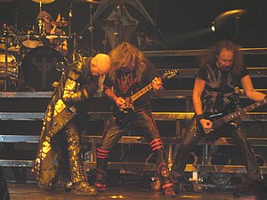 Heavy metal fashion - Judas Priest, in typical heavy metal stage attire, performing at the VH1 Rock Honors on May 25, 2006.