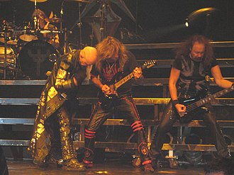 Judas Priest - Judas Priest in typical heavy metal attire performing at the VH1 Rock Honors in Las Vegas on 25 May 2006.