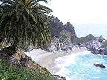 Spiaggia a Big Sur, località dove Kerouac rimase per qualche tempo