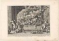 Jupiter verandert koning Lycaon in een wolf Metamorfosen van Ovidius (serietitel), RP-P-2014-67-2.jpg