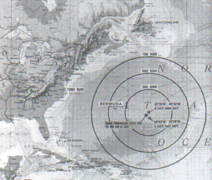 Soviet submarine K-219 - Location of the incident