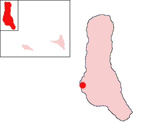 Iconi - Location of Iconi on the island of Grande Comore