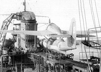 Beriev Be-4 - Be-4 on the Soviet cruiser Molotov, 1941.