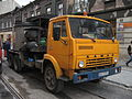KamAZ-based asphalter truck during Długa street reconstruction in Kraków (2).jpg