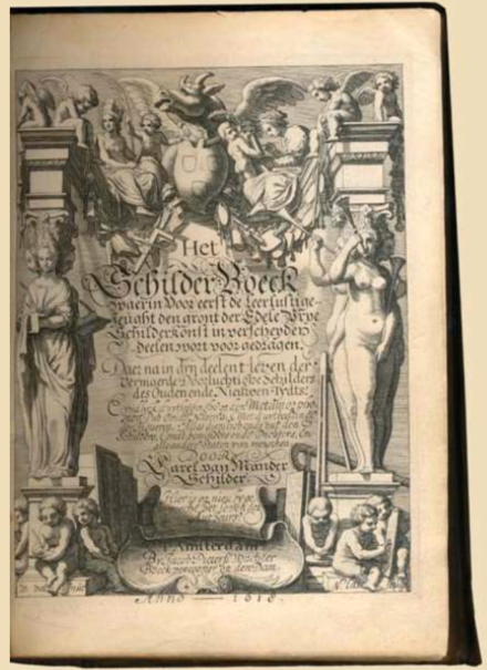Title page of the second edition of the Schilder-Boeck Karel van Mander - Schilderboeck 2nd edition title page.tiff