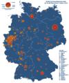 Karte Deutschland Städte über 50000 Einwohner.png