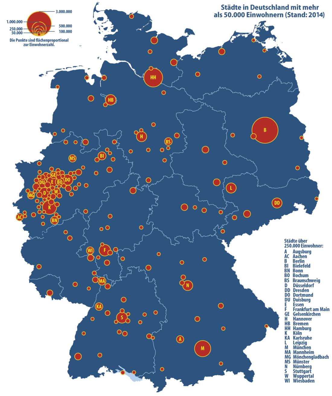 Liste Der Groß Und Mittelstädte In Deutschland Wikiwand