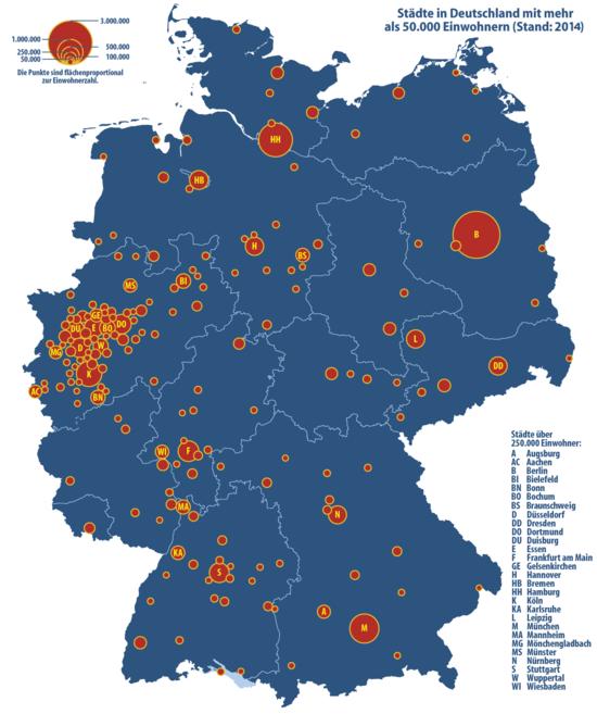 liste deutsche großstädte