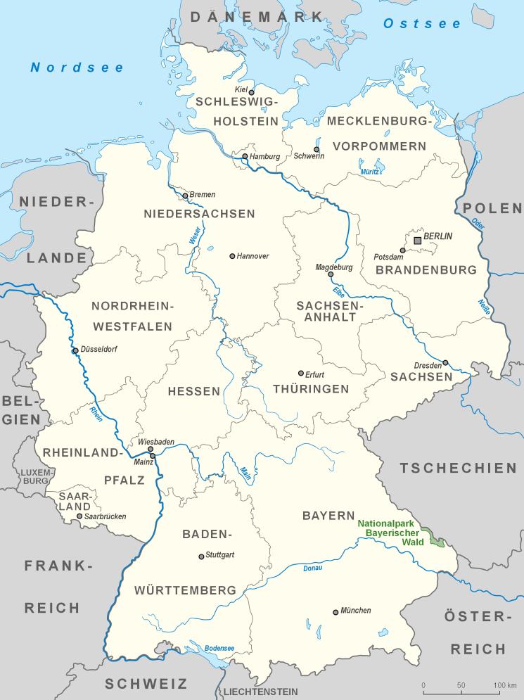 Karte Nationalpark Bayerischer Wald