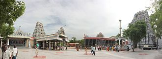 Karur - Panorama view of Karur Pasupateeswarar temple from the inside