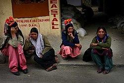 Ladakh women in local costumes