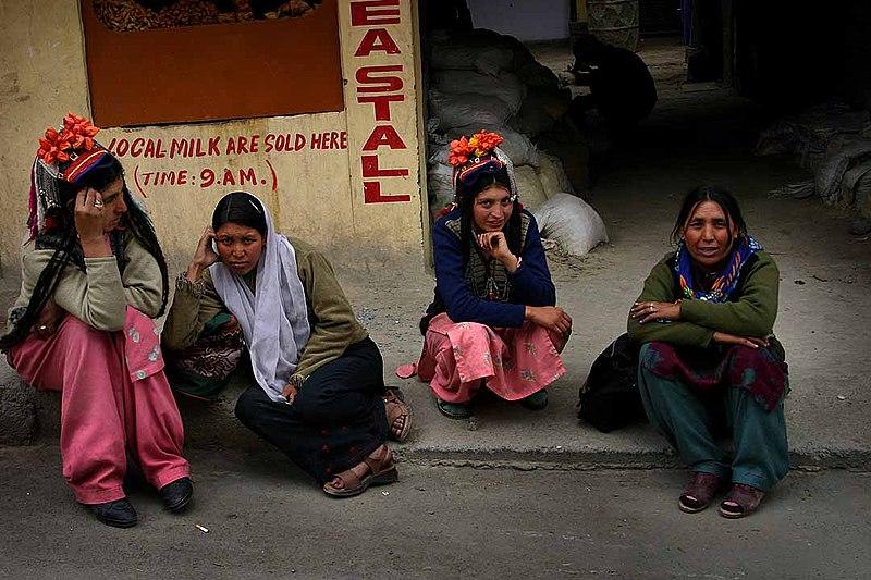 Kashmir Ladakh women in local costume.jpg